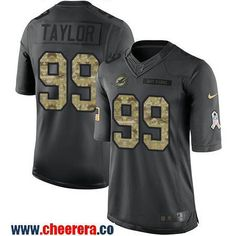 Men's Miami Dolphins #99 Jason Taylor Black Anthracite 2016 Salute To Service Stitched NFL Nike Limited Jersey