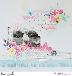 Hello everyone,  Ulli here with you today sharing my first layout with the gorgeous new Bohemian Dream collection with you.    This week we show here on the Cocoa Vanilla blog a project that describes our scrapbooking style. I would describe my scrapbooking style as playful and light. I often