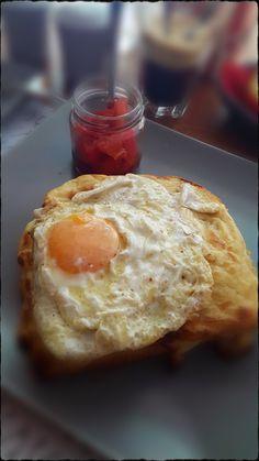 Crocque madam!!!! Best breakfast at Syros island