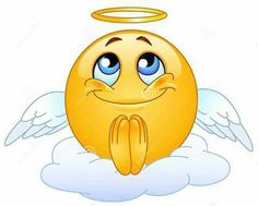 Illustration about Angel emoticon sitting on a cloud. Illustration of emoticon, angel, facial - 15453195
