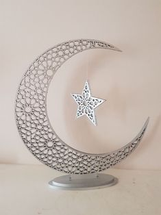 This is a beautiful centrepiece to adorn your home throughout Ramadan or Eid. Eid Crafts, Ramadan Crafts, Ramadan Decorations, Flower Decorations, Ramadan Activities, Swarovski, Moon Decor, Gifts For Photographers, Centre Pieces
