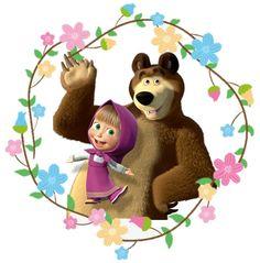 Fernanda Baby Birthday Cakes, Bear Birthday, 2nd Birthday Parties, Masha Et Mishka, Marsha And The Bear, Bear Theme, Bear Party, Cute Cartoon Wallpapers, Kids Prints