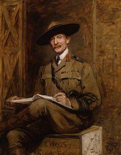 Robert Stephenson Smyth Baden-Powell, 1st Baron Baden-Powell by Sir Hubert von Herkomer oil on canvas, 1903 55 7/8 in. x 44 1/8 in. (1419 mm x 1121 mm) Purchased, 1988 NPG 5991
