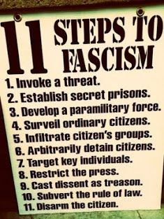 Steps to Fascism .... happening now in America
