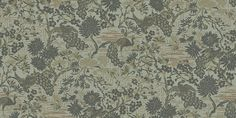 Brunnsgatan (095-03) - Duro Wallpapers - A chinoserie style wallcovering with peacocks and metallic inks.  Shown here in moss green and gold. Please request a sample for a true colour match.