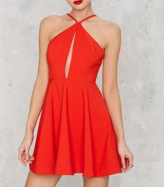 Fashion Red Halter Homecoming Dress, Sexy Backless Party Dress, Mini Prom Dresses, Cute Homecoming Dresses, Spaghetti Strap Homecoming Dresses