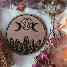 Triple Crystal Goddess Altar Tile by UnusualOptical on Etsy