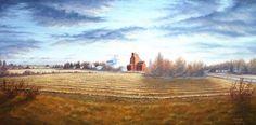 Harvest Sunrise - By Canadian Artist Dan Reid Canadian Artists, Harvest, Dan, Sunrise, Painting, Painting Art, Sunrises, Paintings, Sunrise Photography
