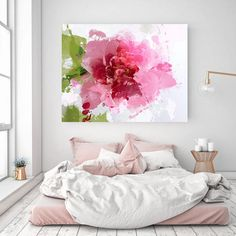 Sparkle bright. Floral Painting, Pink Green White Abstract Art, Wall Decor, Large Abstract Colorful Contemporary Canvas Art Print up to 72 by Irena Orlov Floral Contemporary Canvas Print by Irena Orlov up to 72, Large Floral Oversized Canvas Art Print, Wall Art Print, Wall Decor, Fine Art