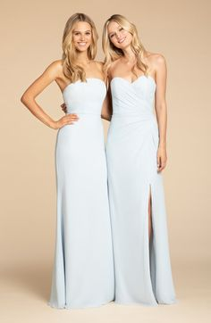 8e5cca22c64 Style 5906 Hayley Paige Occasions bridesmaids gown - Dusty Rose chiffon A-line  gown