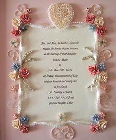 Quilled Heart and Roses Border