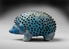 Blue Faience Model Hedgehog, from an Egyptian Tomb at Abydos, New Kingdom (18th Dynasty c.1567-1320 BC)