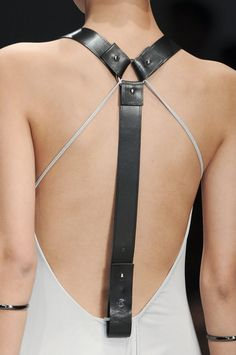 leather harness detail..