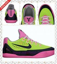 Where To Get 653593-701 Nike Kobe 9 EM GS Volt/Midnight Navy-Pink Glow-Wolf Grey Womens