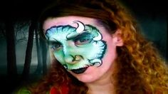 Monster Face Painting Design Video Tutorial