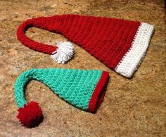 Christmas hats for Belle & Grace.2015