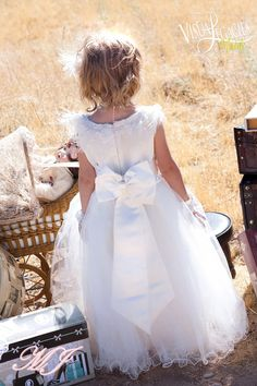 Heavenly Flower Girls Dress by sharpsissors on Etsy, $152.00