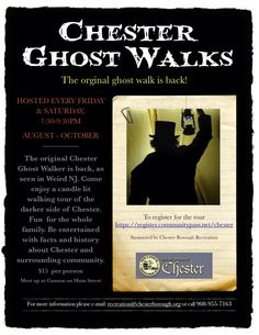 The Ghost Walk is back in Chester, NJ!
