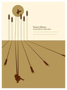 Conor Oberst Concert Poster by Jason Munn
