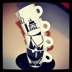 MY January - Mr. Bialetti Coffee Bar Home, Coffee Art, Espresso Maker, Espresso Coffee, Coffee Shops, Italian Coffee, Dark Brown Color, I Love Coffee, Drinking