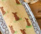 Happy+Easter!+Osterhasen+Biskuitrolle+gefüllt+mit+Mandarinen-Quark
