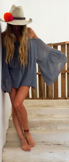 bohemian boho style hippy hippie chic bohème vibe gypsy fashion indie folk look outfit Style ✧❂✧↢ Pinterest - @karalisr