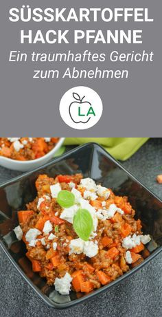 Sweet potato minced meat pan with feta - healthy recipe for Süßkart. - Sweet potato minced meat pan with feta – healthy recipe for Süßkartoffel Hackfleisch - Healthy Meats, Healthy Snacks, Healthy Recipes, Eating Healthy, Potato Recipes, Meat Recipes, Dinner Recipes, Carne Picada, Mince Meat