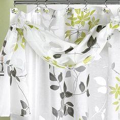 Popular Bath Mayan Shower Curtain, Leaf Sage