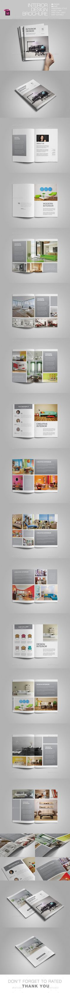 Interior Design Brochure Design Template. Download: http://graphicriver.net/item/interior-design-brochure/11403664?ref=ksioks