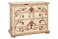 Madeira Painted Dresser (stencil a piece of furniture..great look..