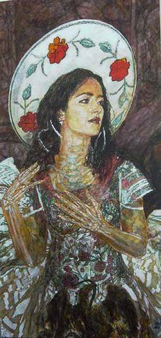 George Yepes. La China Poblana, 2004. Acrylic on canvas.