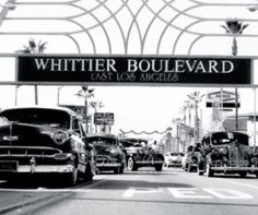 Whittier Blvd, East Los Angeles was one of the first lowrider cruising strips. Cruises down the Blvd started as early as the 1930s.