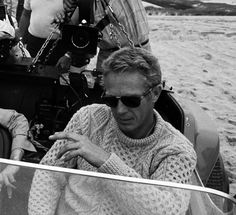 Steve McQueen looking good in an L.L. Bean aran sweater