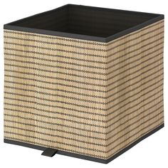 MyGift Natural Eco Friendly Bamboo Wood Vinyl Record Crate with Chalkboard Label