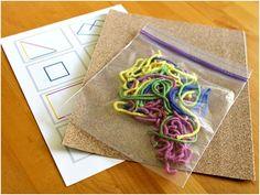 Sandpaper and yarn creations