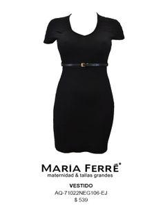 VESTIDO TALLA EXTRA, NEGRO, PLUS SIZE DRESS, BLACK. MARÍA FERRÉ.