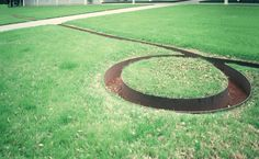 Images of the outdoor sculpture of the Menil Collection, Houston
