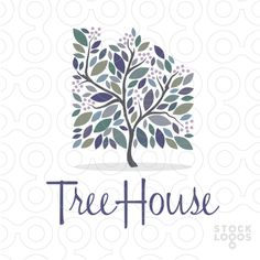 tree house real estate logo by NancyCarterDesign