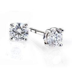 Birks Blue Diamond Solitaire Earrings