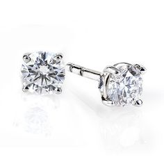 BIRKS BLUE® Collection, Diamond Solitaire Earrings in 18kt White Gold