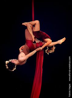 Aerial Silk Dance 7 by ~Elfland on deviantART. This is a neat one!! Never seen it before... Preferred to the typical straddle-up... :)