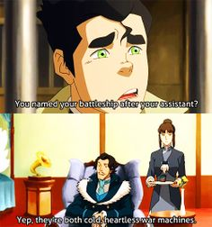 I'm still sorta hoping Zhu Li has some kind of mind control over Varrick, because that would be awesome.