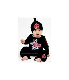 Cool Baby Boy Clothing    King Outfit Black With by CandyShopKids, $47.00