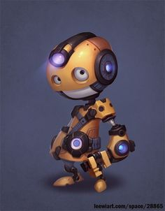 工人 #robot #chibi #yellow
