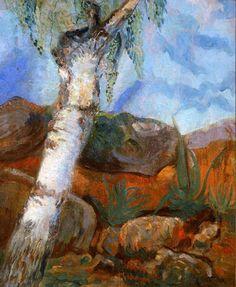 Odilon Redon LANDSCAPE   Odilon Redon >> Arbre dans un paysage   (huile, reproduction, copie ...