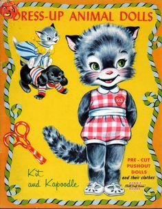 Kathleen Taylor's Dakota Dreams: Thursday Tab- Kit and Kapoodle, Dress Up Animal Dolls