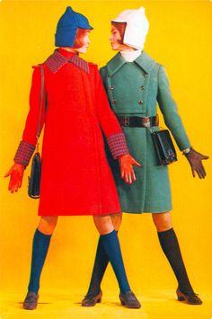 Colorful vintage 1960s fashion in USSR 'Sputnik' magazine