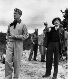 Robert Doisneau // Jean Cocteau, Jean Marais , 1949. (  http://www.gettyimages.co.uk/detail/news-photo/jean-cocteau-directing-actor-and-friend-jean-marais-during-news-photo/121505839