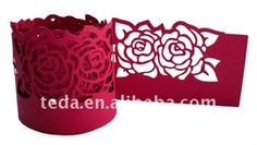 Red Table Decoration Lace Rose Napkin Rings - Buy Wedding Table Decoration/table Decorations And Accessories,Front Table Decoration,Disposable Napkin Rings Product on Alibaba.com