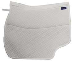 The Concept Spine-Free Dressage Pad, made by Hastilow USA, was designed with help from computer testing to reduce pressure on the horse's back. The pad is available in several contours to accommodate high-withered to broad-backed horses and features a wide channel to provide spine clearance and increase airflow. Cut-out sections behind the rider's leg allow for breathability and whip contact. The pad retails for $65.